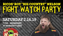 "Rico's Roy ""Big Country"" Nelson Fight Watching Party"