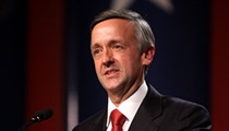 Assclown Alert: Texas Robert Jeffress Packs in His Flock for a Pro-Trump Display
