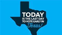 Early Voting Ends Today at 8 p.m.