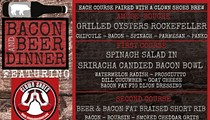 Bacon and Beer Dinner with Clown Shoes Beers