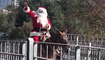Santa Claus Spotted in Downtown Austin, Surprisingly Not a Hipster