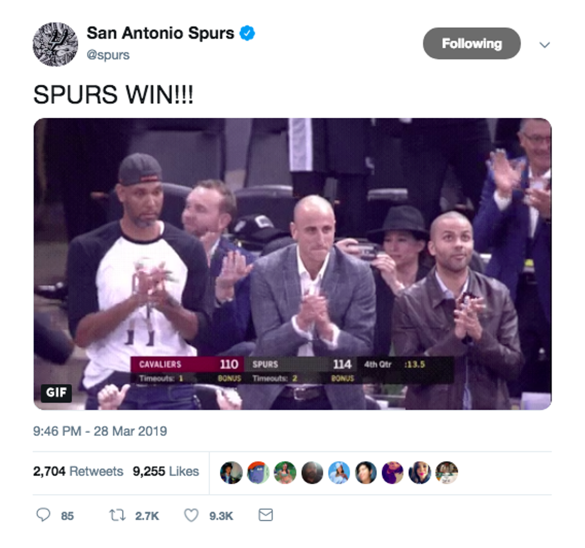 cceee5b57d7 20 Emotional Moments from Manu Ginobili's Jersey Retirement Ceremony Last  Night. By San Antonio Current Staff