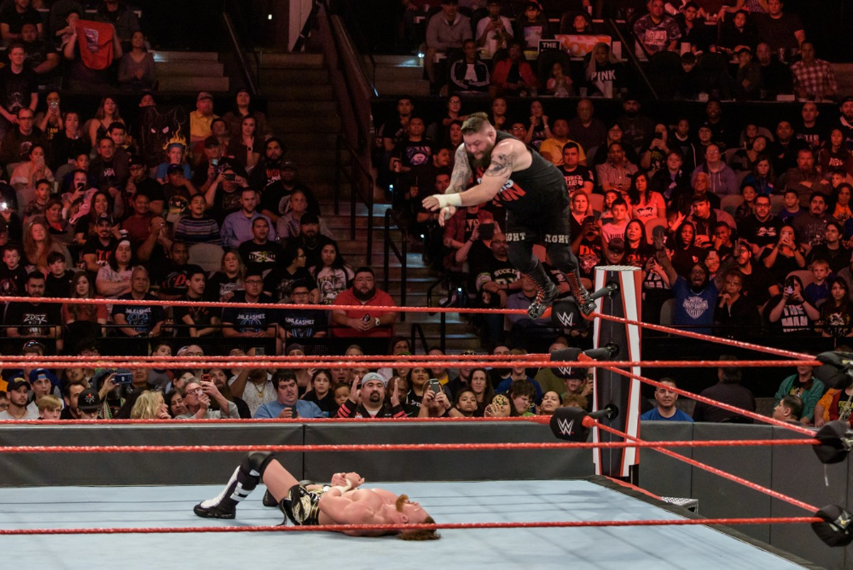 Scenes from WWE Monday Night Raw at the AT&T Center