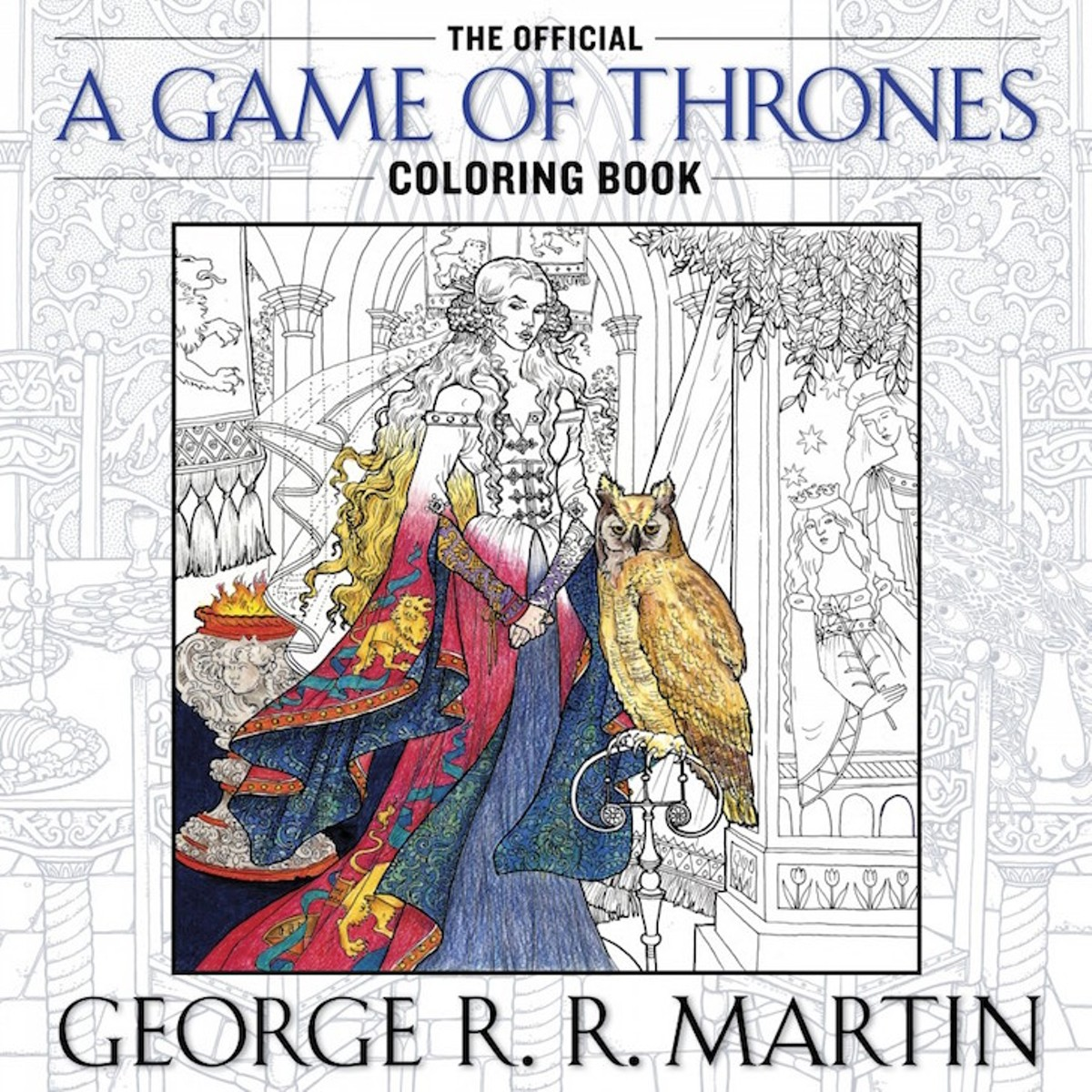 The official a game of thrones coloring book a song of ice and fire youll have to find the right shade of pinkish red to color in tyrions scar buy it