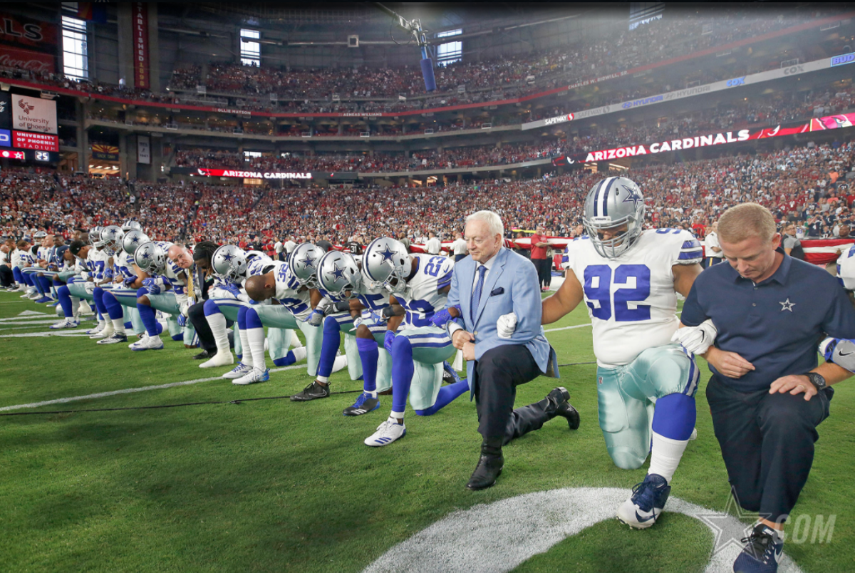 Dallas Cowboys Kneel And Then Stand Before Monday Night Game The