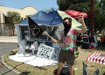 Texas Neo-Nazi Group Attacks San Antonio's Occupy ICE Encampment