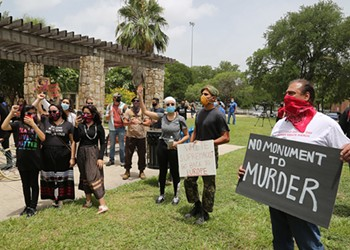 Christopher Columbus Statue Protest Turns Confrontational, but Without Violence