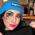 San Antonio Woman Creates Fiesta Spurs Makeup Look, Complete with Coyote Tribute