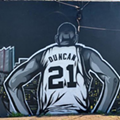 New Tim Duncan Mural Pops Up on San Antonio's South Side