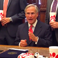 Subtle He Ain't: Texas Governor Signs So-Called 'Save Chick-fil-A' Bill While Surrounded by People Holding Chick-fil-A Cups