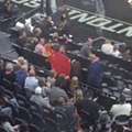 Man Escorted Out of AT&T Center for Claiming China Owns the NBA During Demonstration at Spurs Game