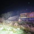 Train Derailment Spills Coal by Hot Wells