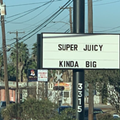 San Antonio chef Andrew Weissman's Mr. Juicy expertly trolls rival burger joint with road sign
