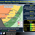 Severe Weather Expected for San Antonio Tonight