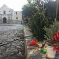 San Antonians Protest Alamo Christmas Tree Relocation with Mini-Tree Display