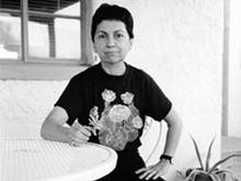 Gloria Anzaldúa photographed by Alison Hawthorne Deming