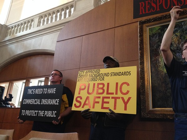 With a lot of opposition (and support) the Public Safety Committee voted to move proposed rules for transportation network companies to the full Council for debate. - ALEXA GARCIA-DITTA