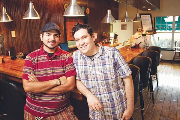 Vegeria owners David Lee Trevino and Fred Anthony Garza. - JOSH HUSKIN
