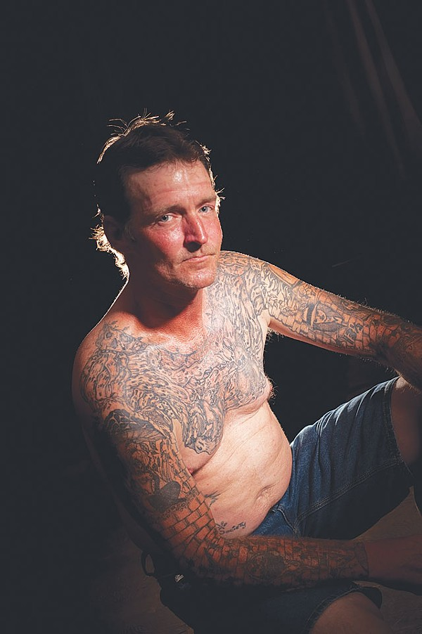 "Victor ""Versus"" Sandifer claims to have inked more than 2,000 prison tattoos. - TRAVIS GAUTHIER"