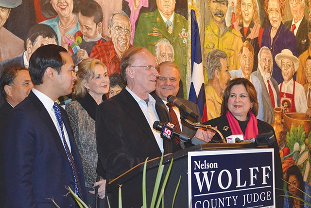 Victorious in their Democratic primary elections, incumbent County Judge Nelson Wolff and state Sen. and lieutenant governor candidate Leticia Van de Putte avoid May runoffs—but not everyone was so lucky. - MARY TUMA