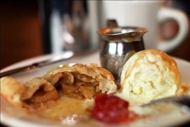 Warm apples with cool vanilla ice cream - COURTESY