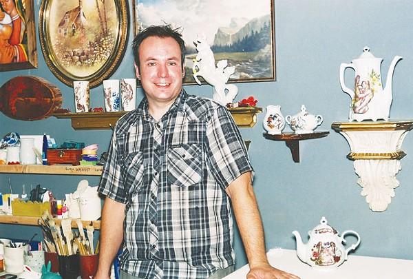 Wesley Harvey in his studio in the Deco District. - BRYAN RINDFUSS