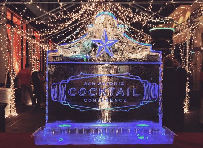 Of course there was a San Antonio Cocktail Conference ice scuplture. - JESSICA ELIZARRARAS