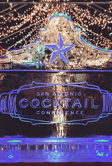 Of course there was a San Antonio Cocktail Conference ice scuplture.