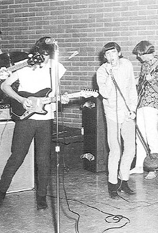 When we were kings: The Laughing Kind at the Teen Canteen in 1967. From left: Bill Smith, Sol Caseeb, Roy Cox, Tommy Smith, Keith Miller, and Bobby Treviño.
