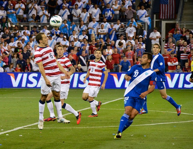 The U.S. Men's National Team plays a World Cup qualifying match against Honduras in 2014. - VIA FLICKR USER BRENT FLANDERS