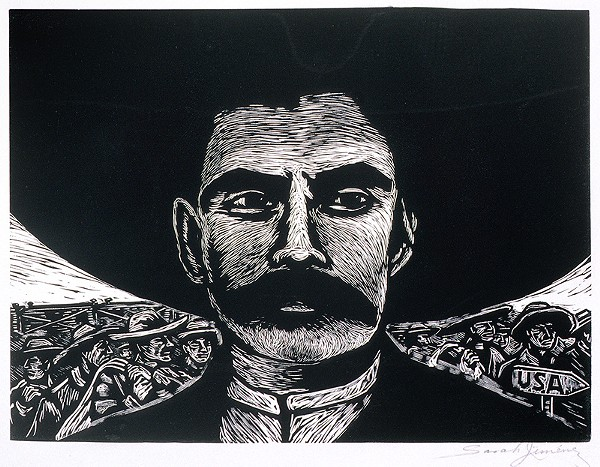"Zapata's good looks added to his legend. Artist Sarah Jimenez: ""I thought he was sexy."" - SARAH JIMENEZ, ZAPATA, CA. 1960"