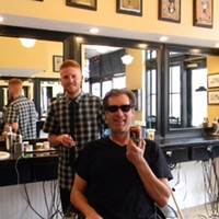 A Beer in a Barbershop in Anaheim