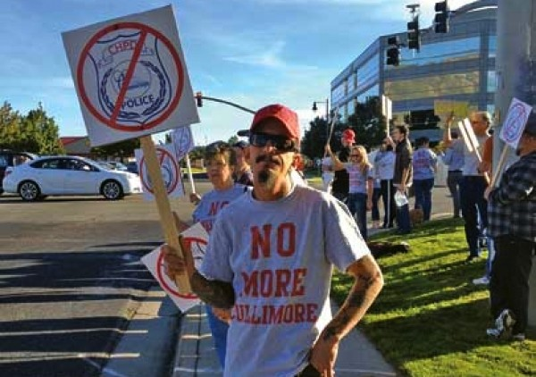 A Sept. 28, 2013 protest in Cottonwood Heights - STEPHEN DARK