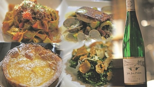 A variety of dishes at Pago