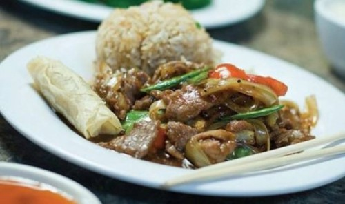 Asian Isle's black-pepper beef.