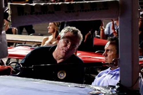 Bill Colbert and Greg Hughes at a recent boxing and MMA fight card at the Utah State Fairpark - ERIK DAENITZ
