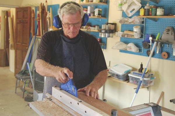 Bill Hughes, a flute-making teacher at Pioneer Craft House
