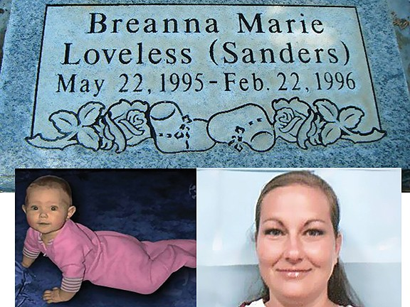 Bobbie Widdison (right) was convicted in 1998 for the murder of her daughter Breanna (left)