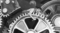 Charlie Chaplin in Modern Times: The poor fellow finds himself caught up (almost literally) in the grinding tyranny of the machine. The movie is hilarious, but it's also a damning portrayal of the dehumanizing consequences of mass industrialization.