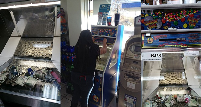 Coin-pusher machines, located in Pleasant Grove and Layton, pay off every time: Always in gum, sometimes in cash