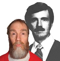 Dan Lafferty in the Utah State Prison and in a 1982 photo from The Daily Herald