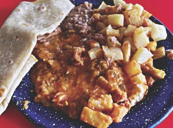 El Maestro's huevos rancheros breakfast platter - JEFFREY DAVID