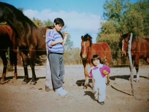 FABIAN ESPINDOLA & HIS SISTER GROWING UP IN MERLO, ARGENTINA - COURTESY FABIAN ESPINDOLA