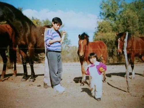 FABIAN ESPINDOLA & HIS SISTER GROWING UP IN MERLO, ARGENTINA - COURTESY FABIAN ESPINDOLA