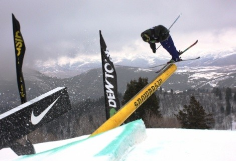 Flat light was the biggest problem at the slopestyle finals. - WINA STURGEON