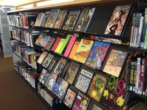 Graphic novels at Salt Lake City Main Library - BRYAN YOUNG