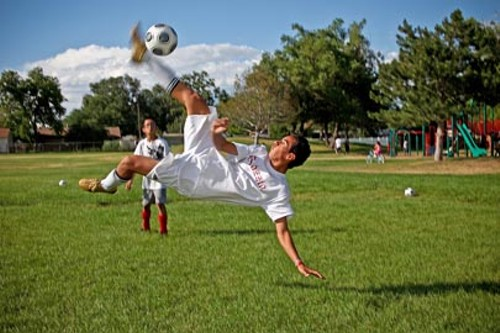 HECTOR, 16, TRAINS WITH PELON AND PEPE'S WEST VALLEY SOCCER CLUB - BY ERIK DAENITZ