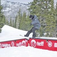 Jared Winkler rides a flat down fun box.