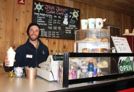 Java Joint owner Mike Quigley always has a tasty latte at the ready. - WINA STURGEON