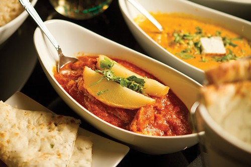 Korma paneer and vindaloo at Karma Indian Cuisine